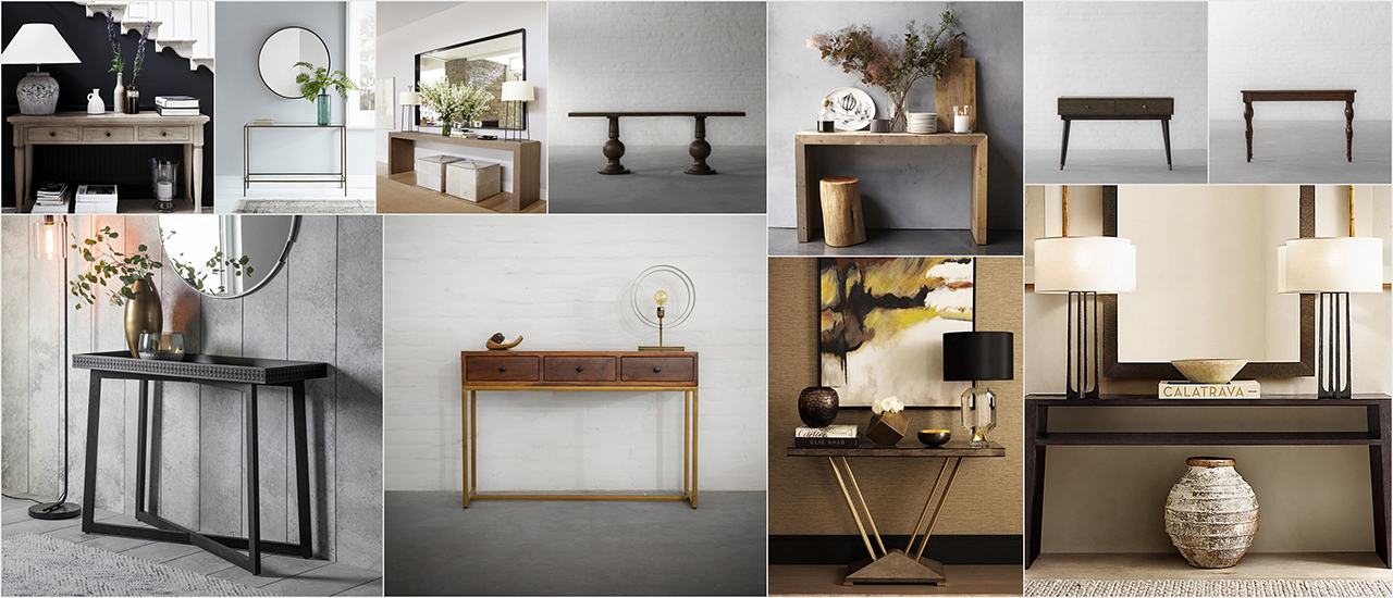 A blank canvas here is how you can style your Console Table