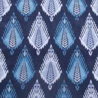 THE VAST IKAT FIELDS MIDNIGHT BLOOM COTTON LINEN BLEND