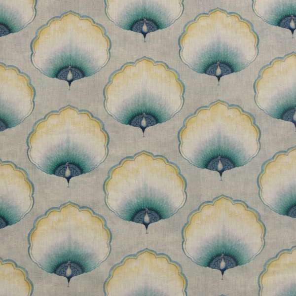 "100% Linen Jaipur Palace Fabric Swatch 6"" x 6"""