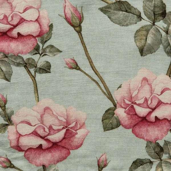 100% Linen Vintage Rose