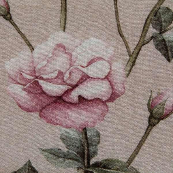 100% Linen VIntage Rose Secret Garden