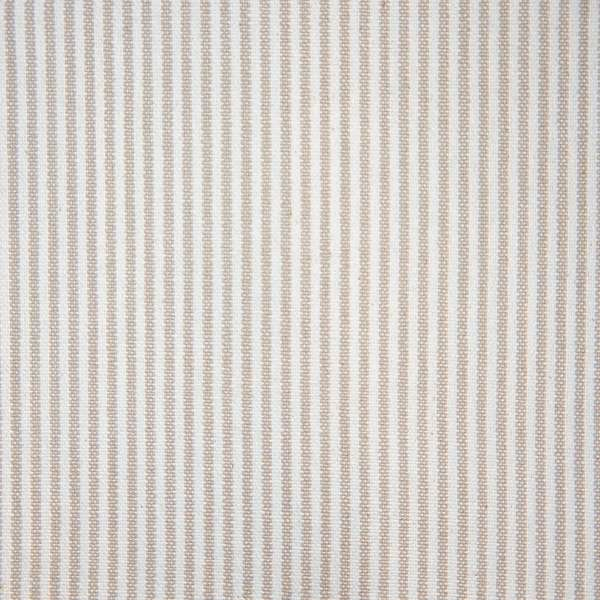 100% COTTON BEIGE  & WHITE STRIPE
