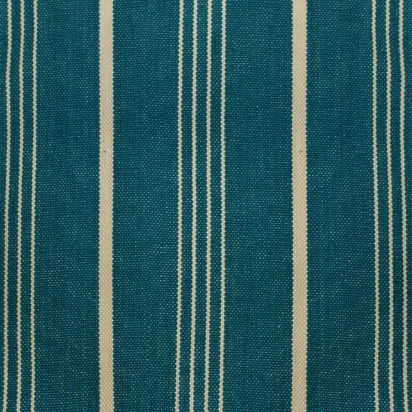 Linen Cotton Ocean & Pearl Stripe