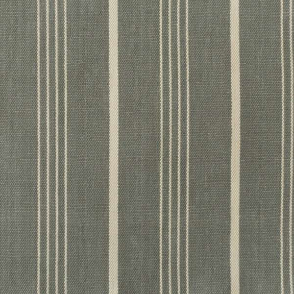 Linen Cotton Sage & Pearl Stripe