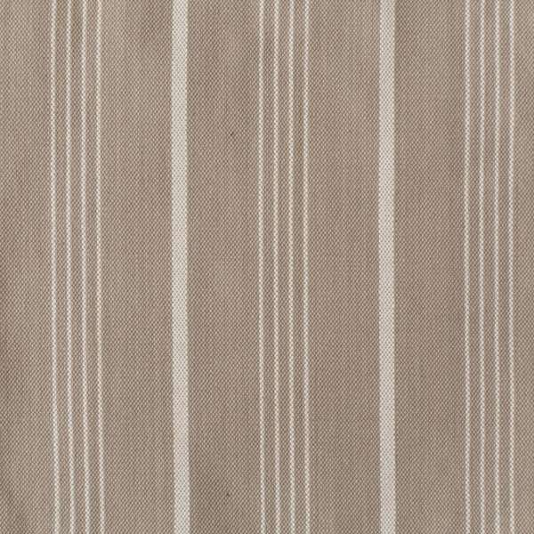 Linen Cotton Sand & Pearl Stripe