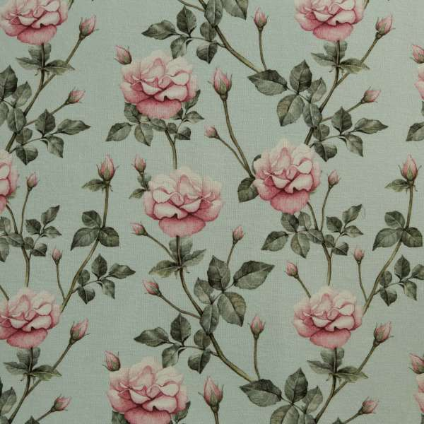 100% Linen Vintage Rose Country Garden