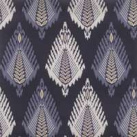 "The Vast Ikat Fields Midnight Bloom - Wallpaper Swatch 7"" x 10"""