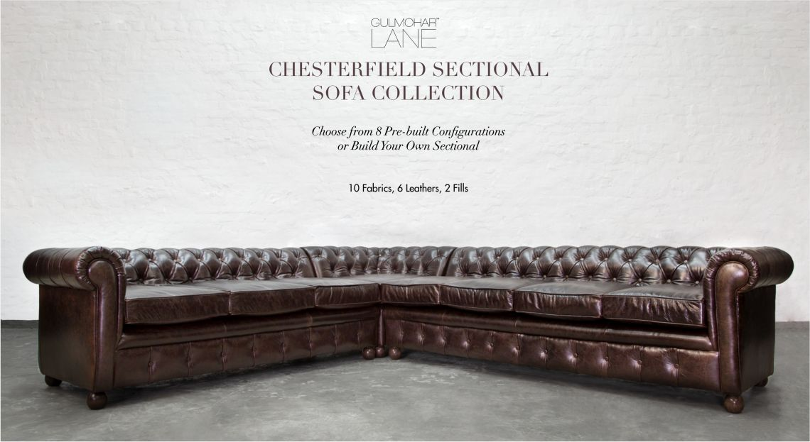Chesterfield Leather Sectionals