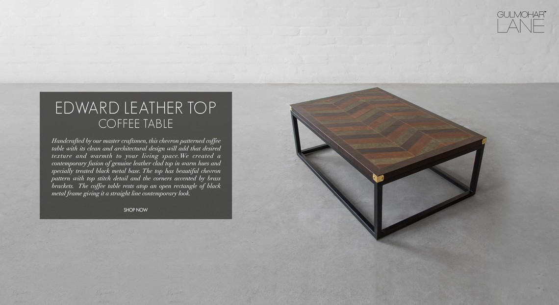 Leather Coffee Tables and Ottomans