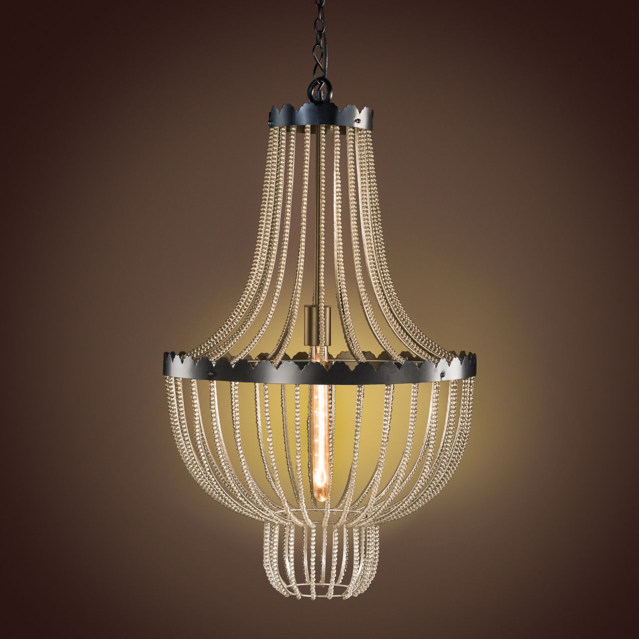 Highlight your home with gulmohar lanes new lighting collection this chandelier features cascading strands of glass beads that will fill your space with twinkling hued light arubaitofo Images