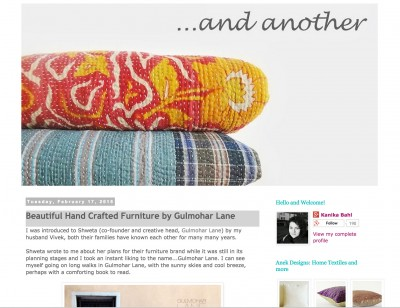 Anek Design's And Another Blog