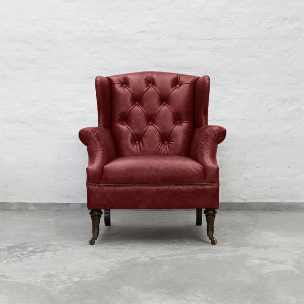 Berry Red Leather