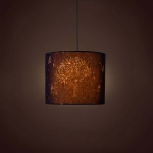 Villa Cylindrical Pendant Lamp - Summer Garden Night