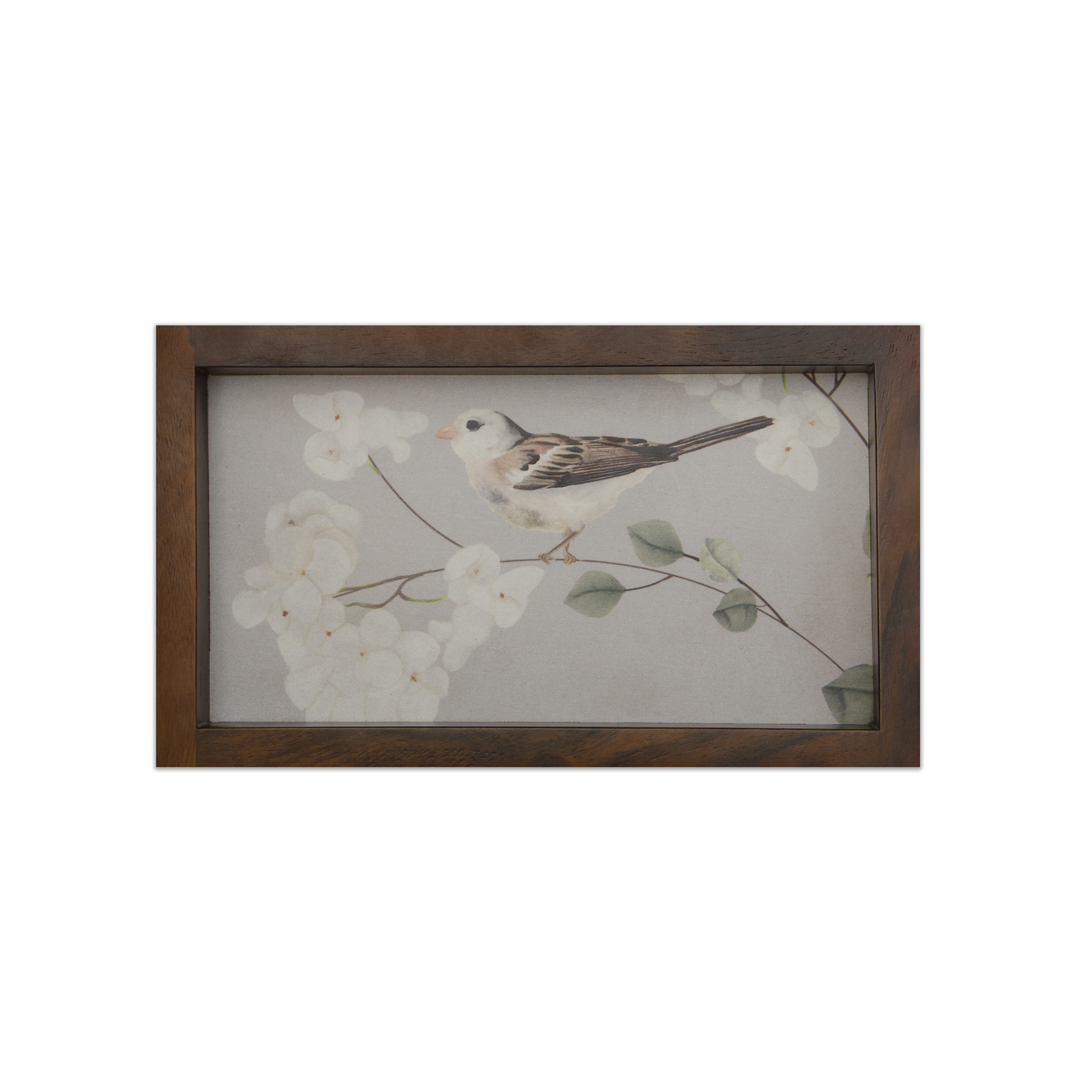 A Bird on Hydrangeas - Wooden Tray