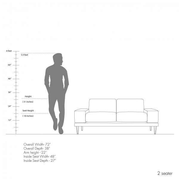 Munich Sofa Collection - Both Side Arms