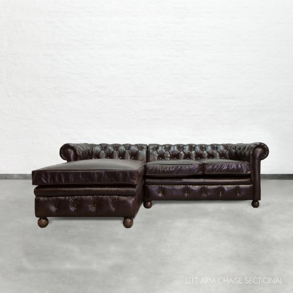 chaise sectional chesterfield. Black Bedroom Furniture Sets. Home Design Ideas