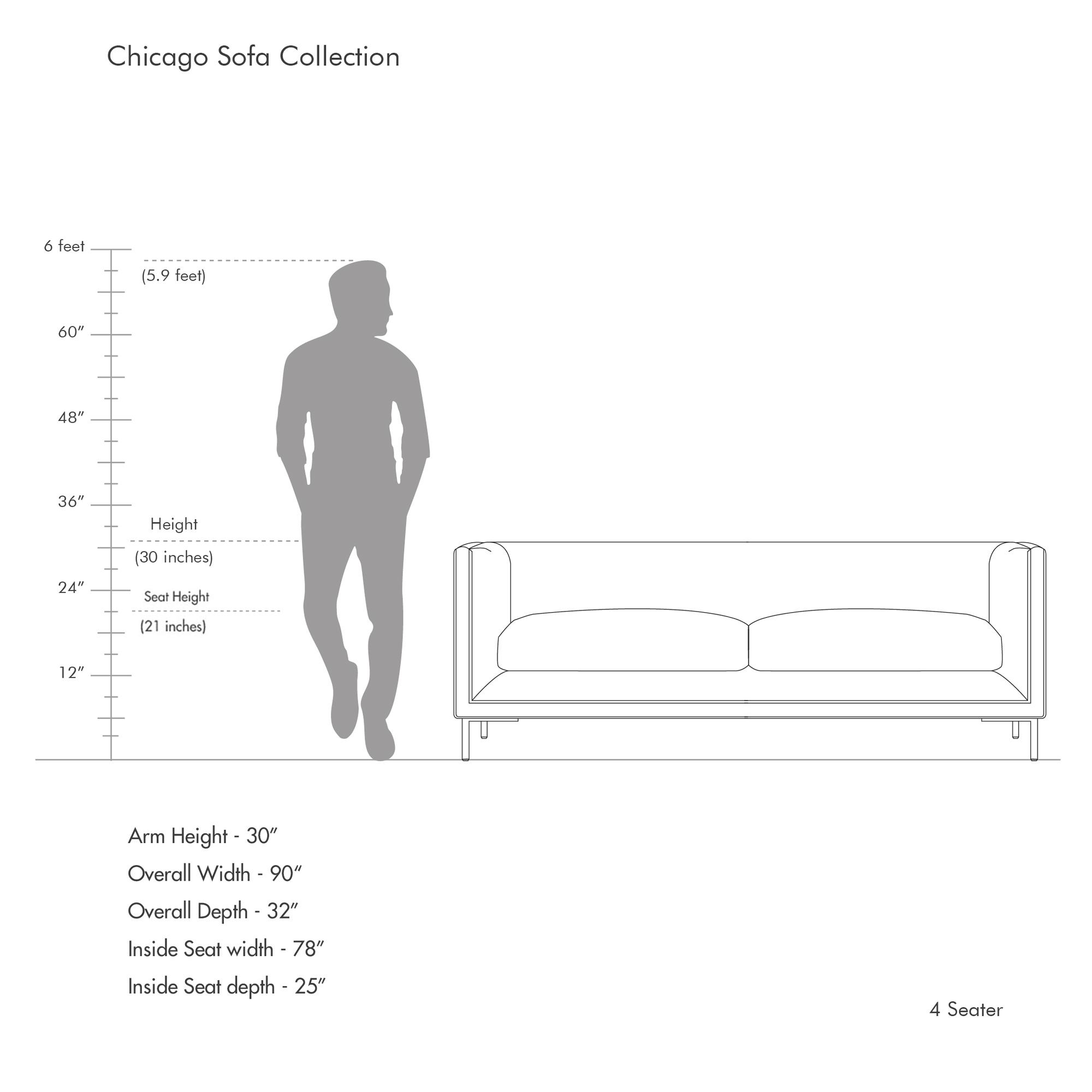 Chicago Sofa Collection