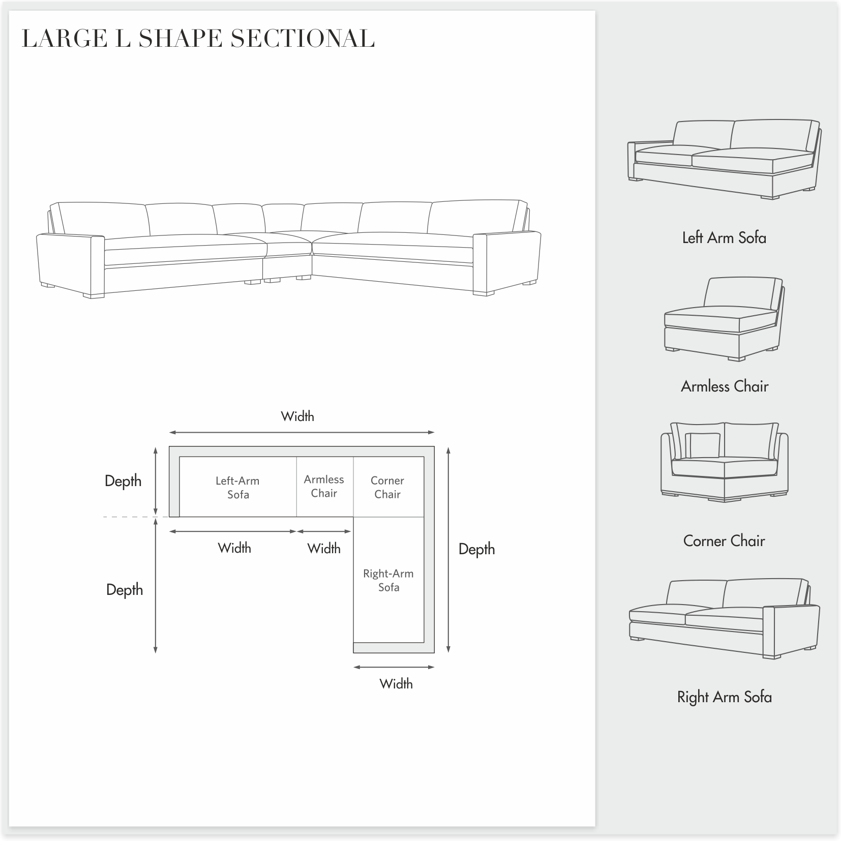 Manor Leather - Large L Shape Sectional