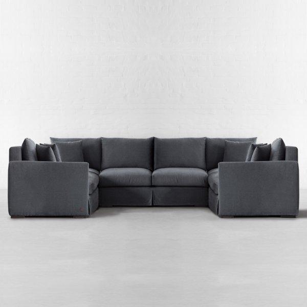 xtra large u shape sectional california. Black Bedroom Furniture Sets. Home Design Ideas