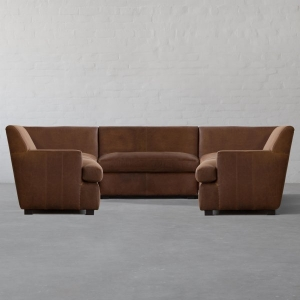 Manor Leather - Xtra Large U Shape Sectional