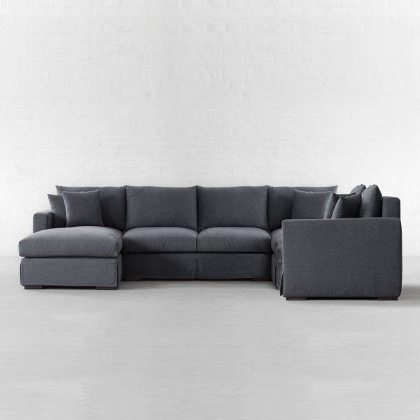 l shape xtra large sectional with chaise california. Black Bedroom Furniture Sets. Home Design Ideas