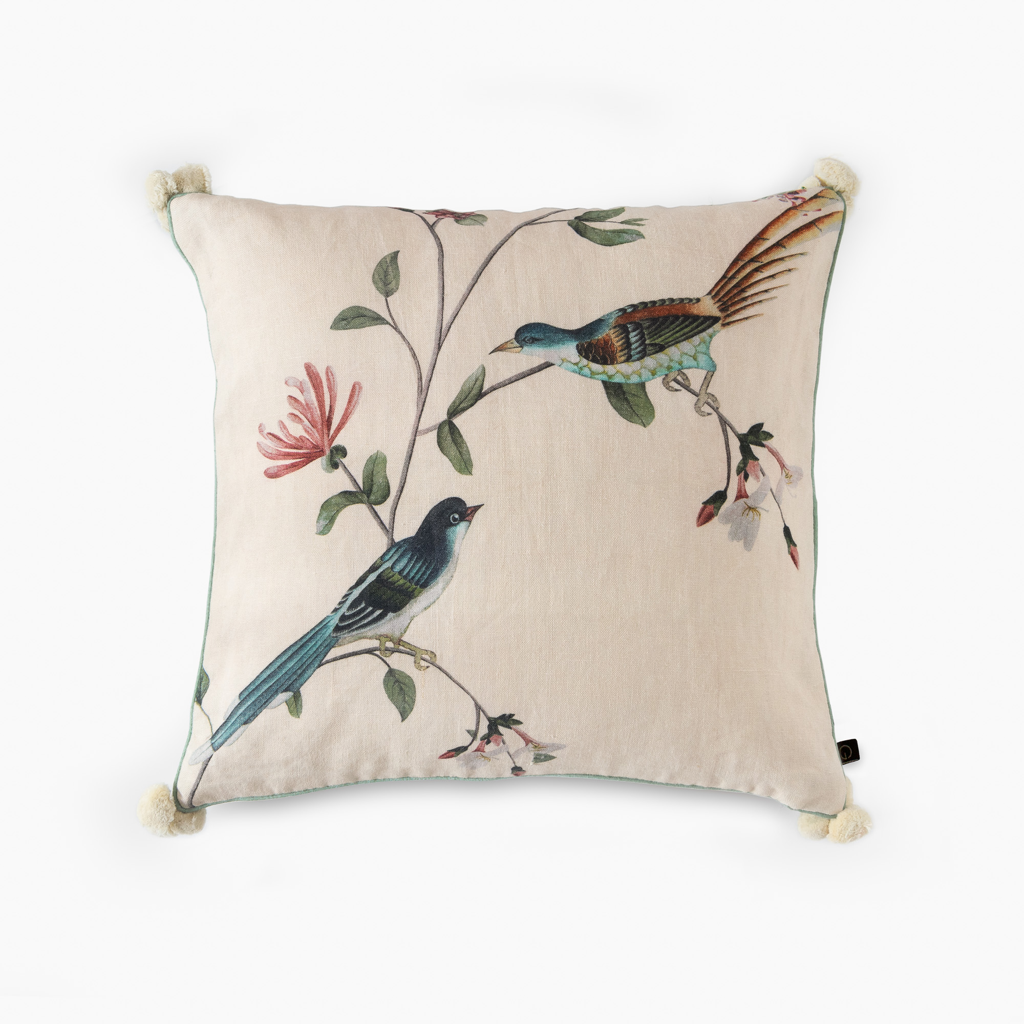 A BIRD DIALOGUE CUSHION COVER