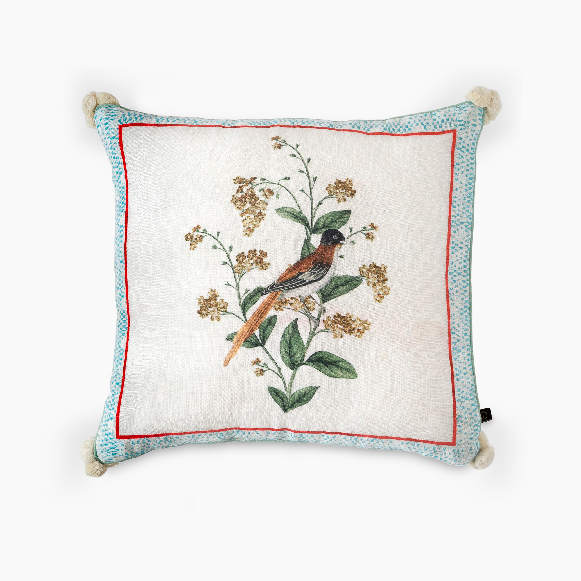A FRAMED MEADOW CUSHION COVER