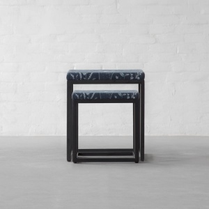 Siena Upholstered Nesting Side Table