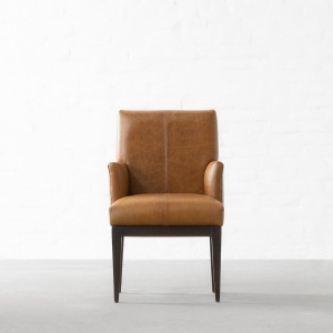 Alpine Leather Dining Chair with Arms