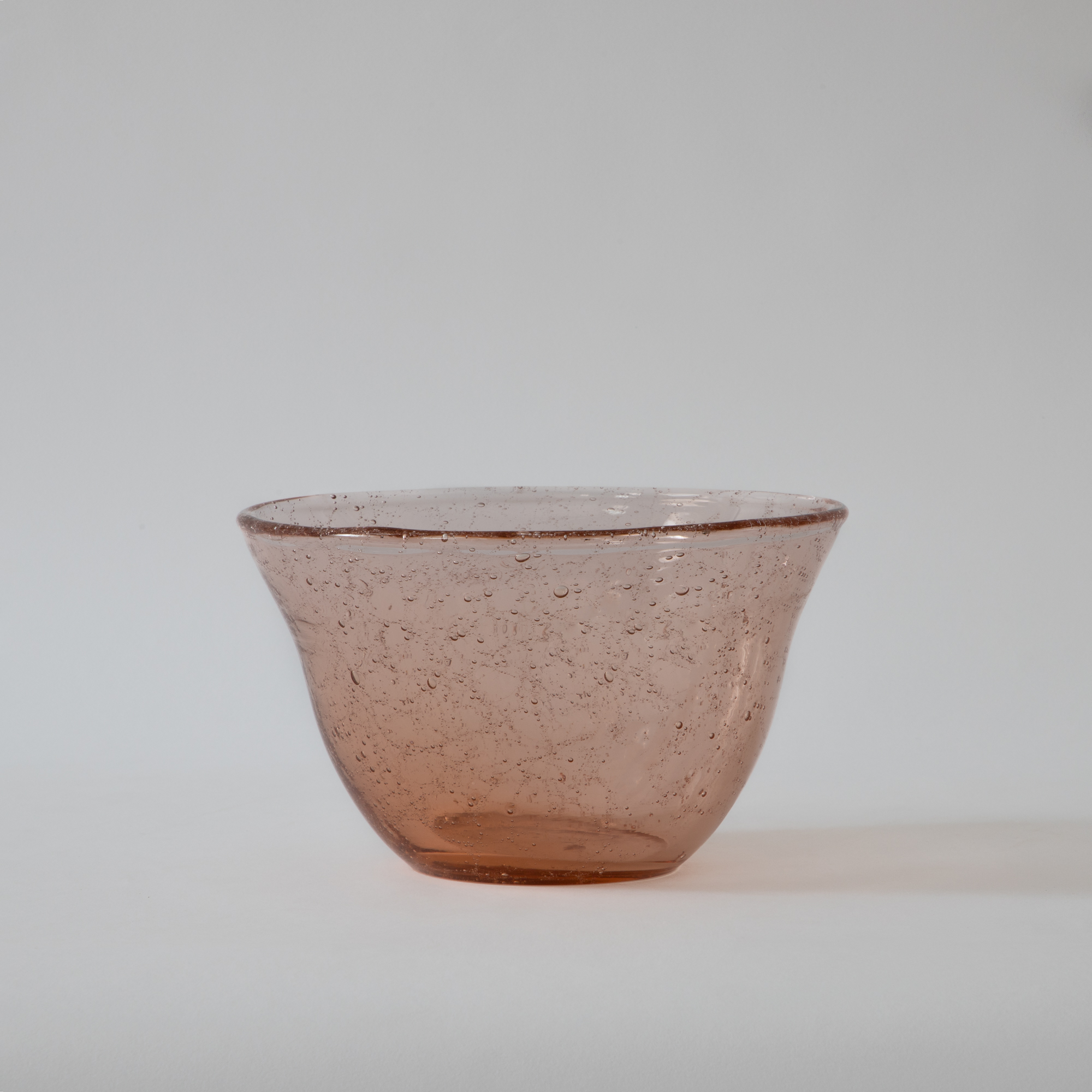 Dew Glass Bowl Rose Gold