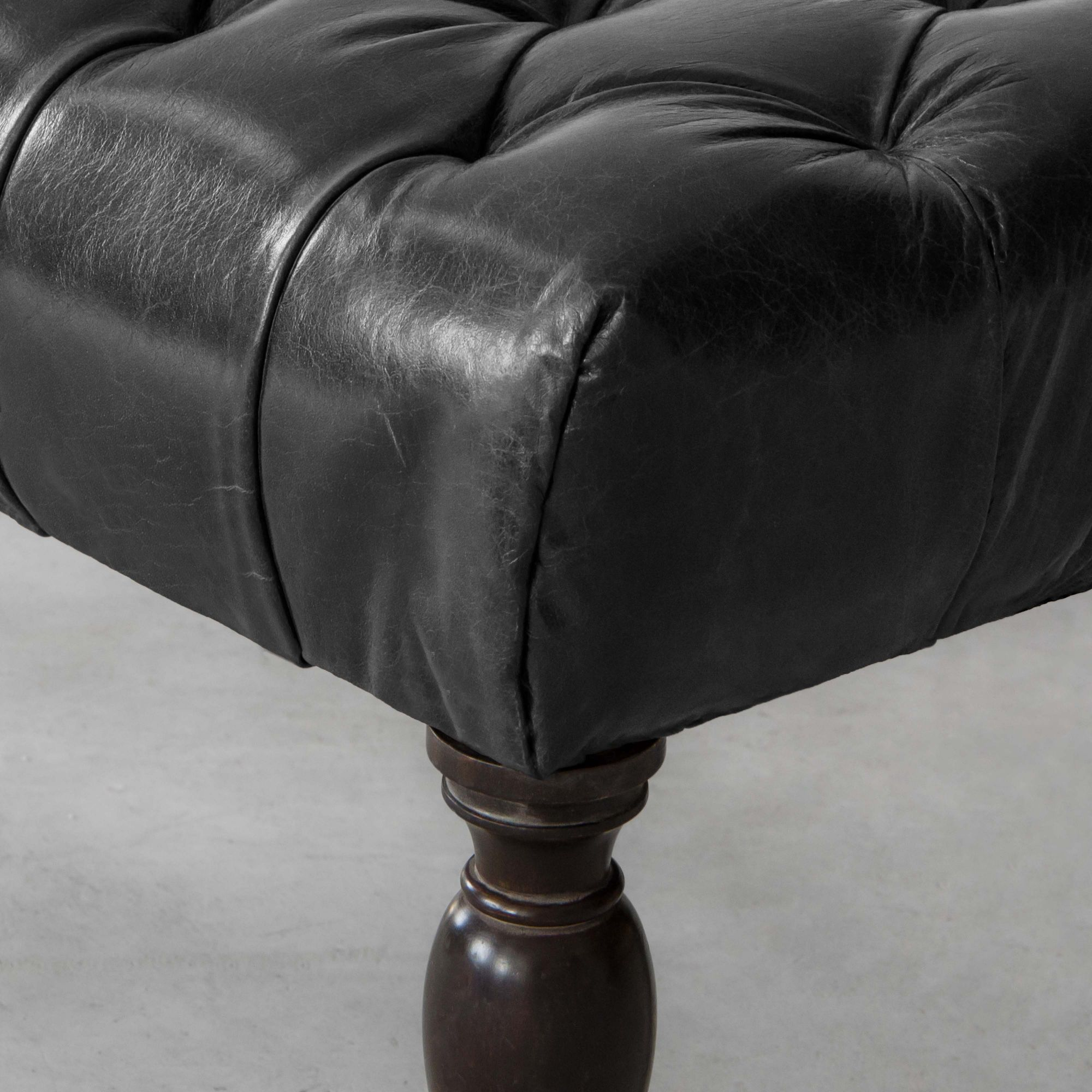Amie Upholstered Leather Bench