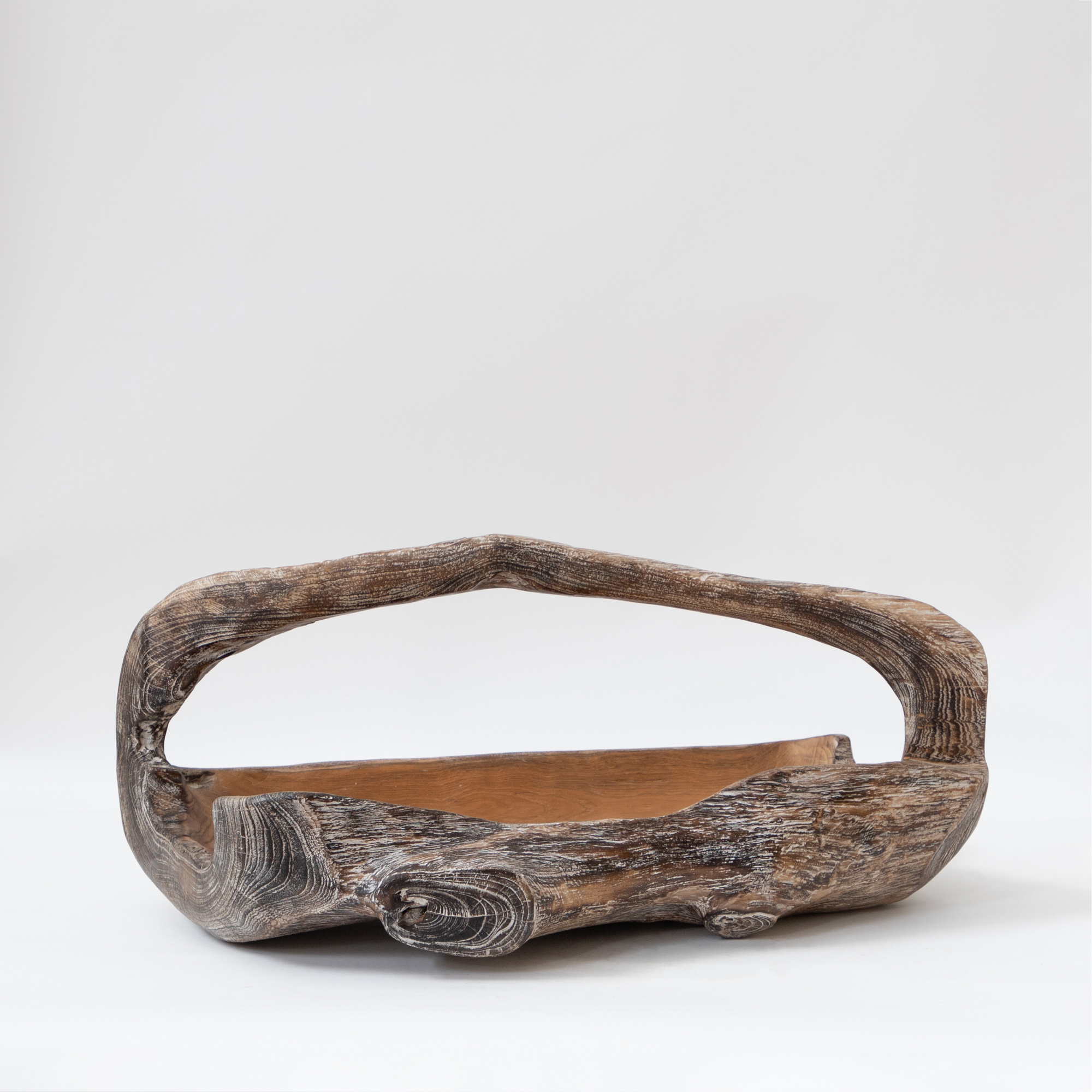 Asian Wooden Boat Decorative Object
