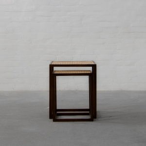 Cochin Rattan Nesting Side Tables