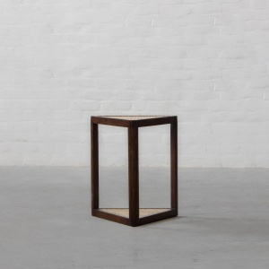 Cochin Triangular Rattan Side Table