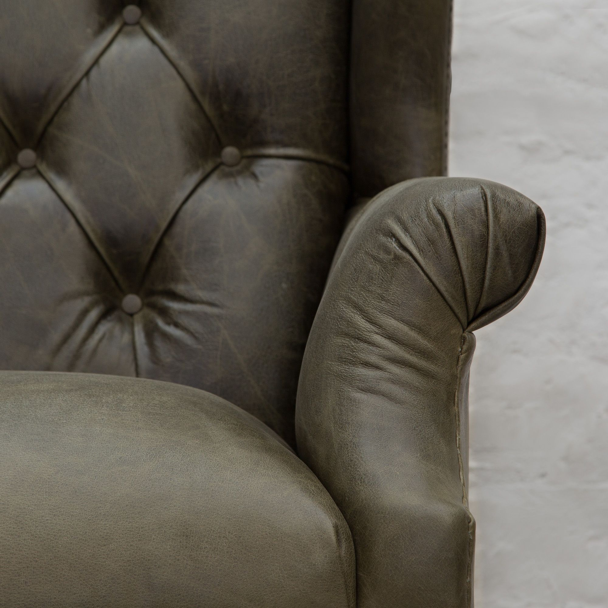 Ballard Estate Wingback Leather Armchair