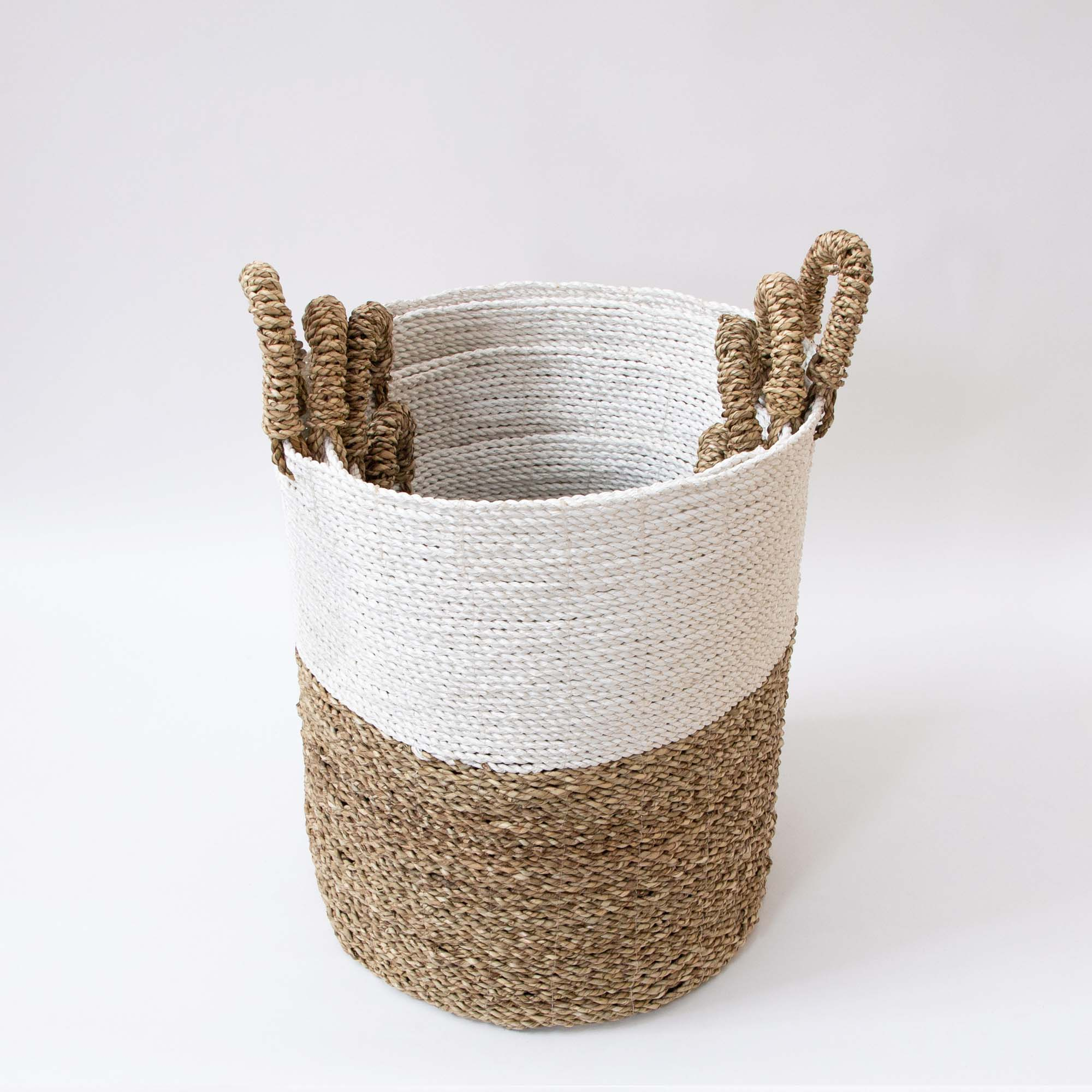 Langkawi Handwoven Basket With Side Swing Handles