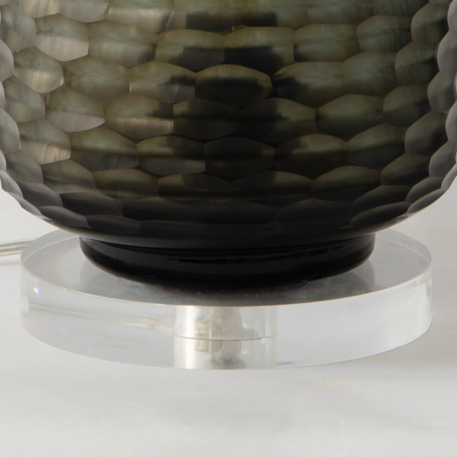Beehive Glass Lamp Stand - Brunette