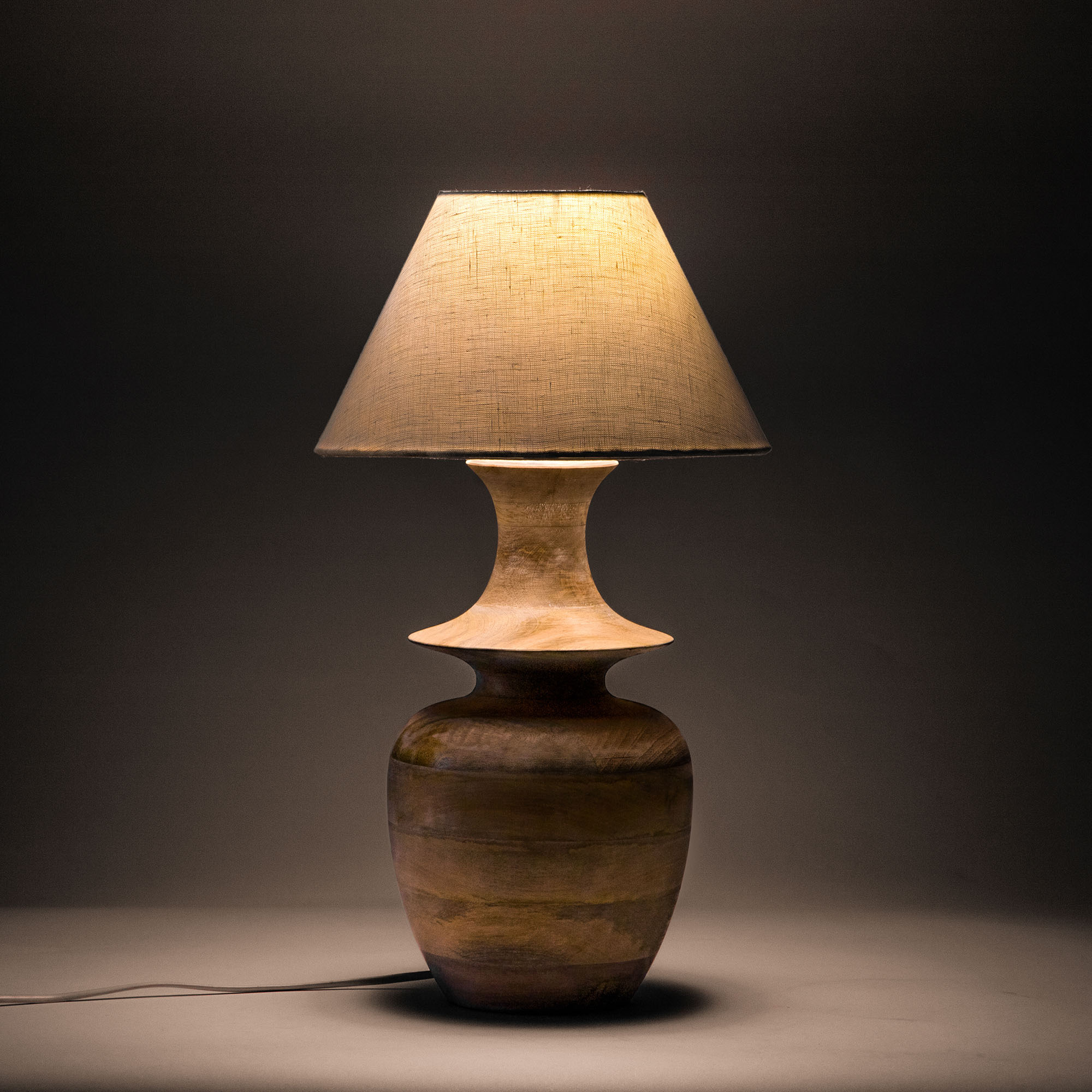 Belford Wooden Table Lamp Beach Sand