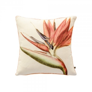 Bird of Paradise Exotic Orange Cushion Cover