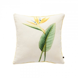 Bird of Paradise Exotic Yellow Cushion Cover