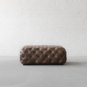 Birmingham Tufted Leather Coffee table Cum Ottoman