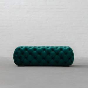 Birmingham Tufted Fabric Coffee table Cum Ottoman