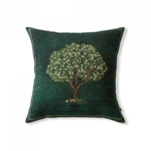 Blooming Lemon Tree Cushion Cover
