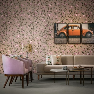 Blush Rose Gardens -  Wallpaper