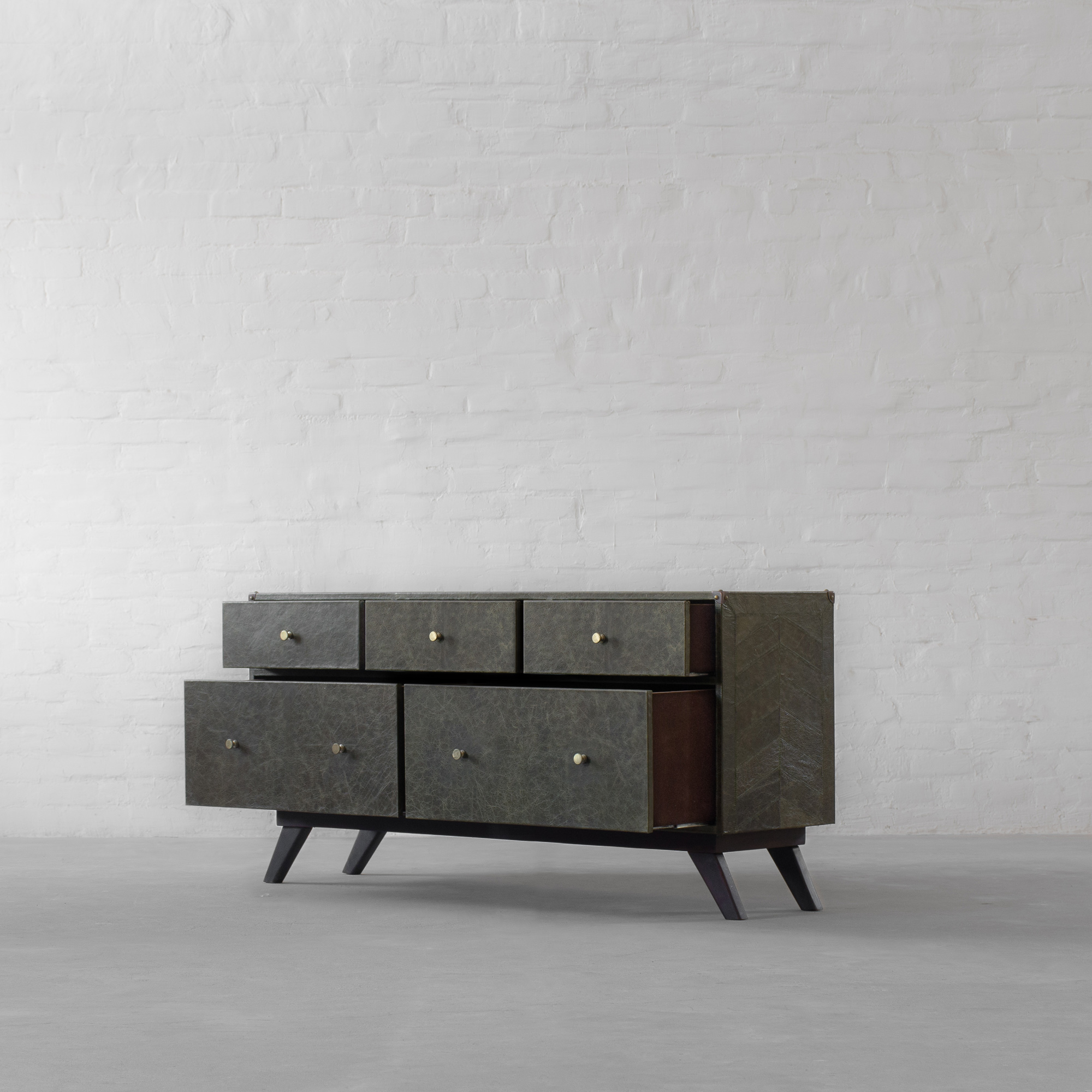 Colaba Leather Clad Chest of Drawers