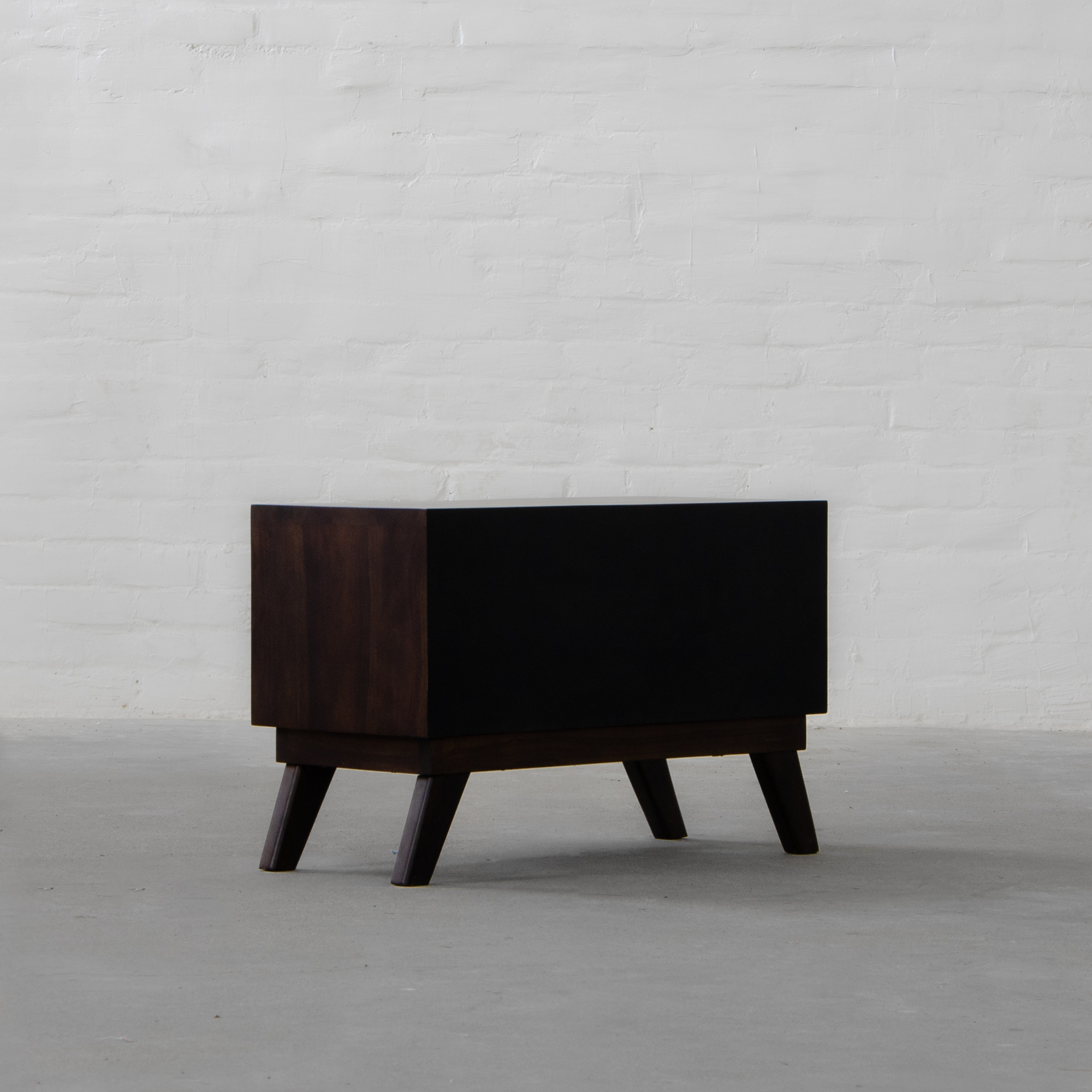 Bombay Leather Clad Side Table