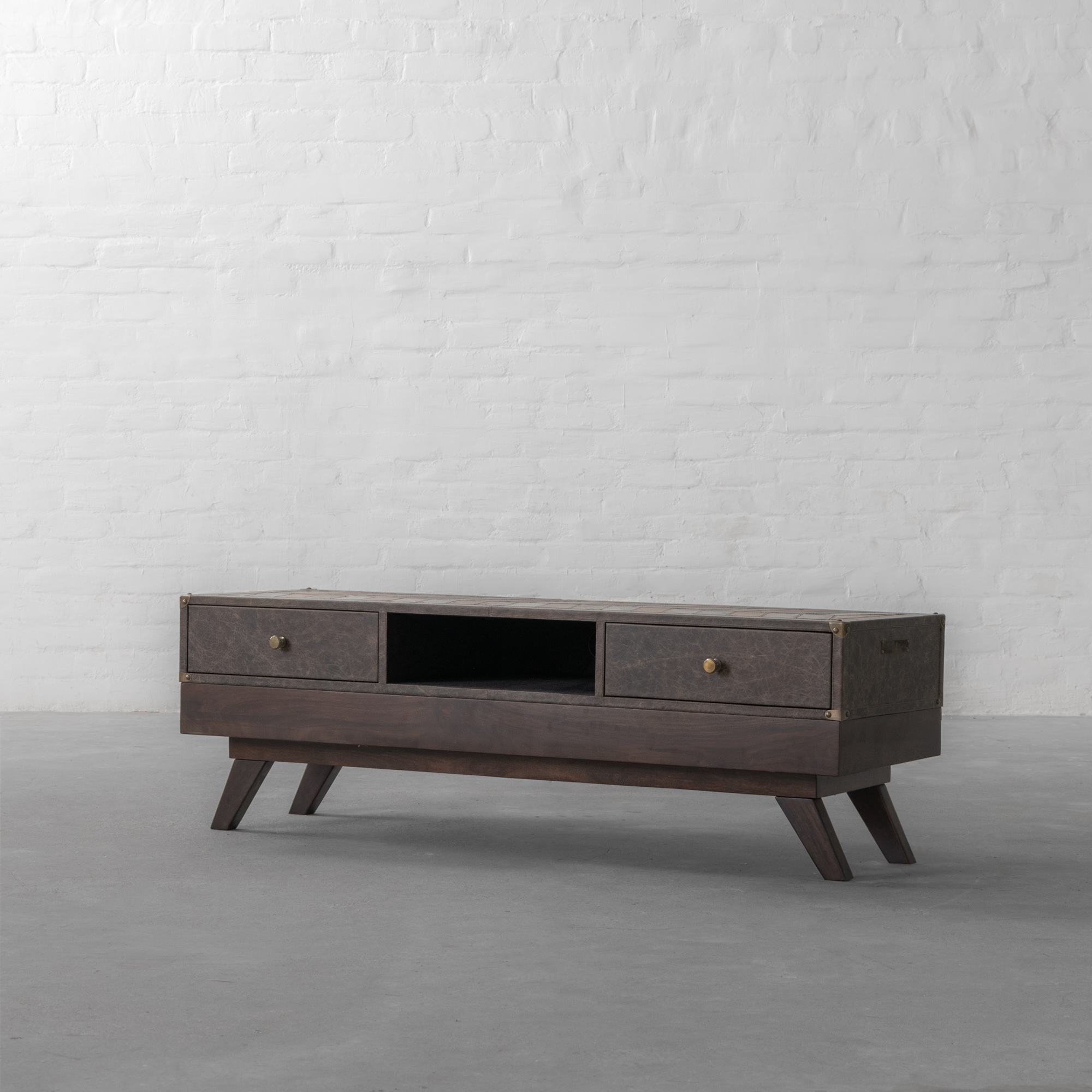 Bombay Leather TV Unit