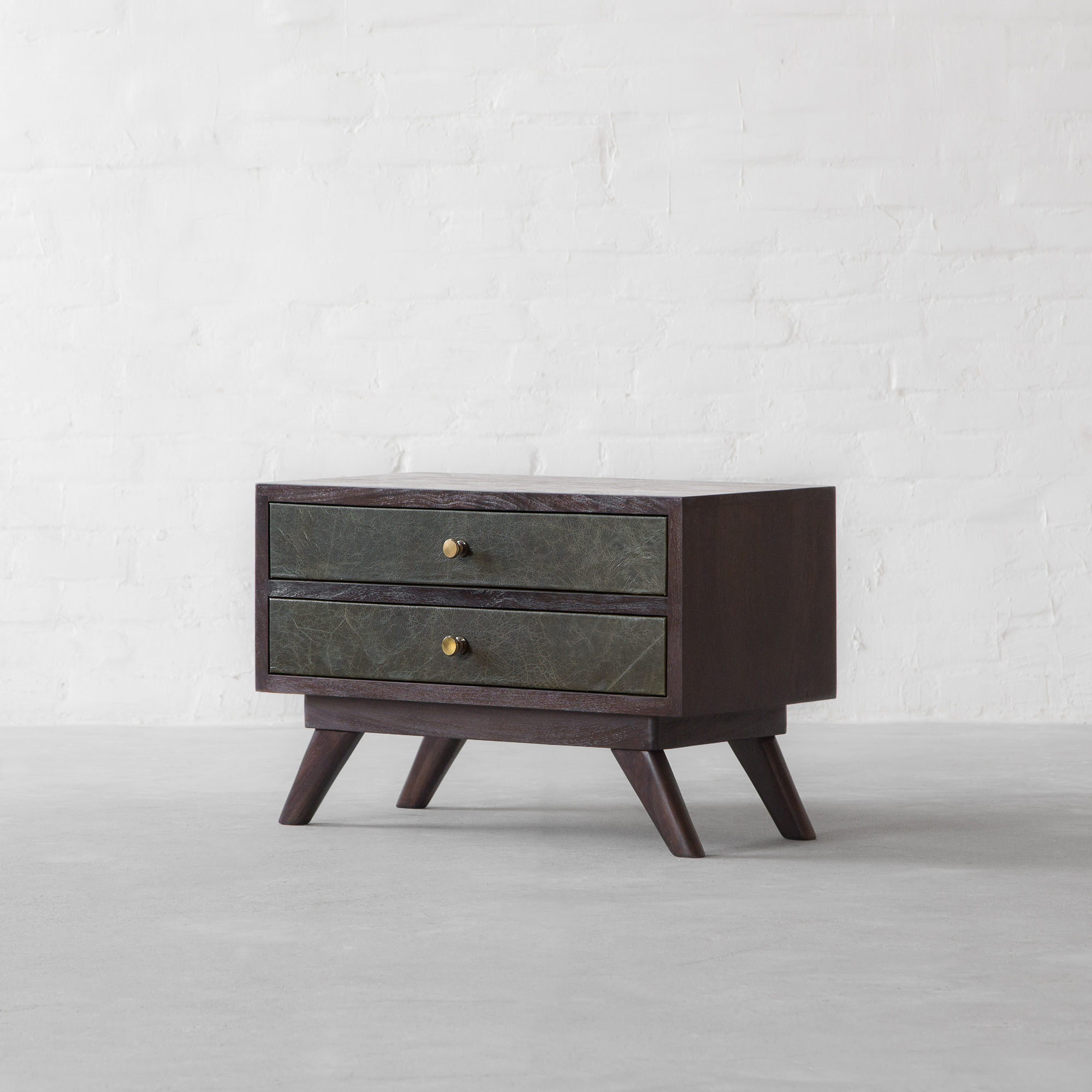 Bombay Leather Cladded Side Table