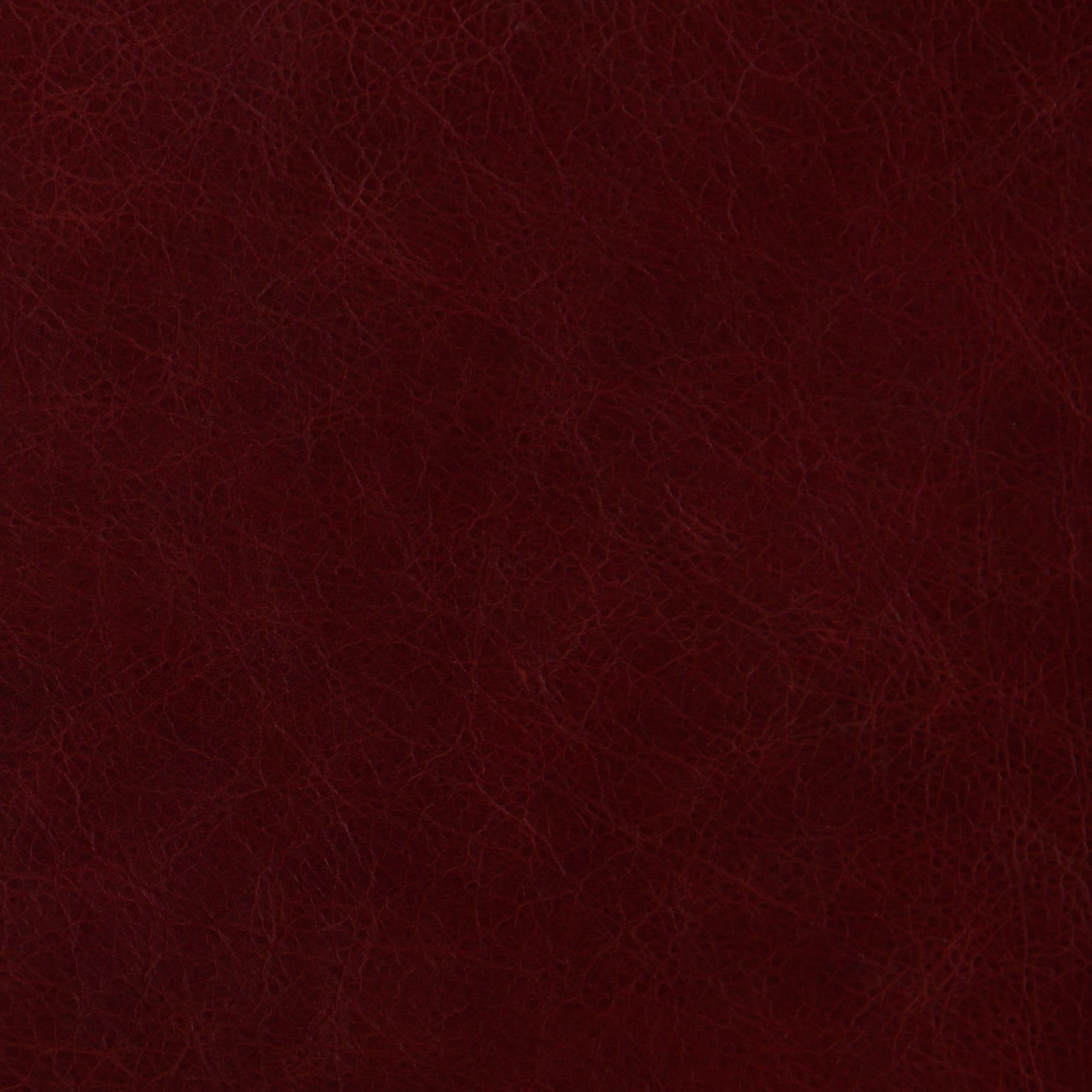 Berry Red Leather Swatch