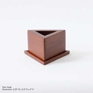Cabo Prism Wooden Table Accessory